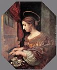 Carlo Dolci St Cecilia at the Organ painting