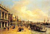 Carlo Grubacs A View of the Doges Palace painting