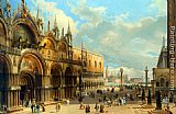 Carlo Grubacs St. Marks and the Doges Palace, Venice painting