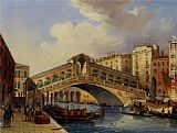 Venice paintings - The Rialto by Carlo Grubacs