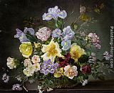 Cecil Kennedy A Still Life with Peonies and Other Flowers painting