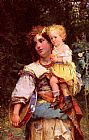 Cesare-Auguste Detti Gypsy Woman and Child painting