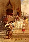 Cesare-Auguste Detti The Confirmation Procession painting