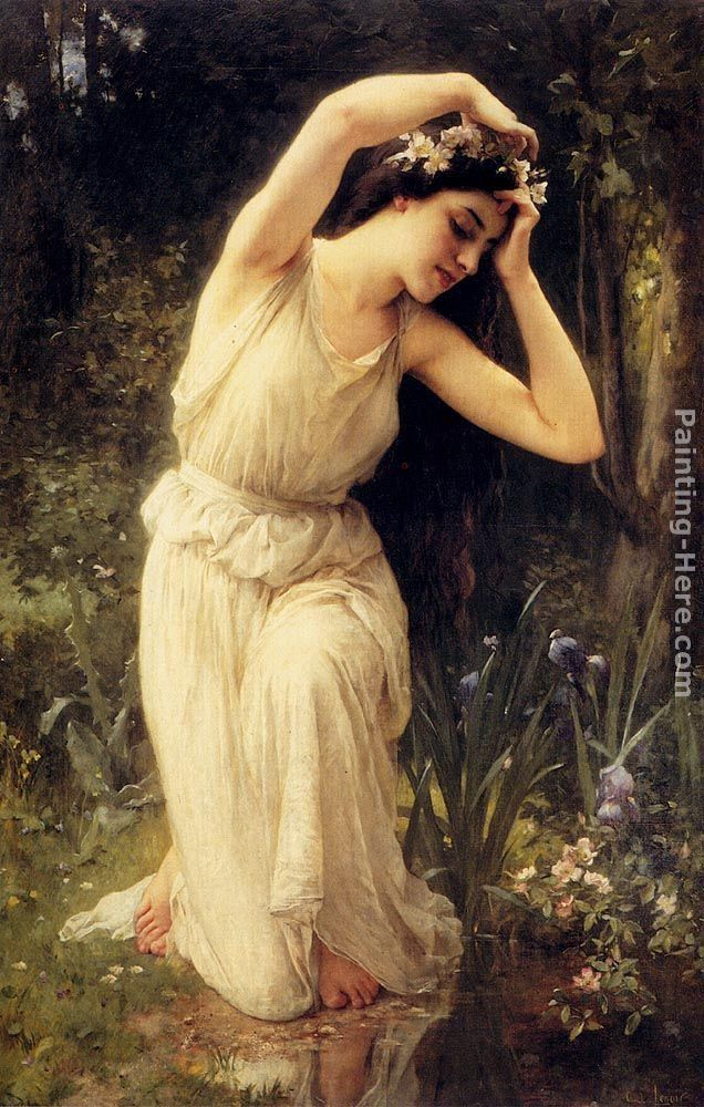 Charles Amable Lenoir A Nymph In The Forest