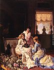 Charles Baugniet Spring's New Arrivals painting
