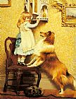 Charles Burton Barber A Little Girl and her Sheltie painting