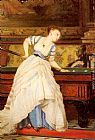 Charles Edouard Boutibonne An Elegant Billiard Player painting