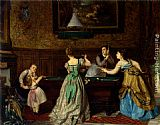 Charles Edouard Boutibonne Ladies Playing Billiards painting