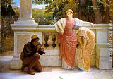 Charles Edward Perugini The Lizard Charmer painting