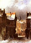 Charles Henri Joseph Leickert A Dutch Town in Winter painting