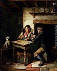 Charles Hunt The Card Players painting