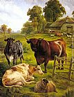 Charles Jones A Pedigree Bull painting