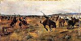 Charles Marion Russell Breaking Camp painting