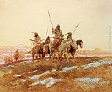 Charles Marion Russell Piegan Hunting Party painting