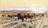 the oregon trail Canvas Prints - The Bison Trail