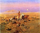 Charles Marion Russell The Horse Thieves painting