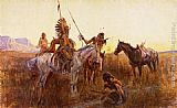 Charles Marion Russell The Lost Trail painting