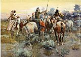 Charles Marion Russell The Truce painting