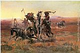 Charles Marion Russell When Blackfeet and Sioux Meet painting