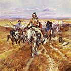 Charles Marion Russell When the Plains Were His painting