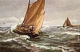 Charles Napier Hemy In Spite of Wind and Weather painting
