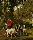 Charles Olivier De Penne A Huntmaster on a Forest Trail painting