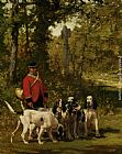 Charles Olivier De Penne A Huntmaster with his Dogs painting
