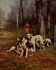 Charles Olivier De Penne Hunting Dogs At Rest painting
