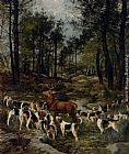 Charles Olivier De Penne The Deer Hunt painting
