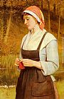 Charles Sillem Lidderdale Knitting painting