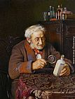 Charles Spencelayh A Touch of Rheumatism painting