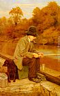 Charles Spencelayh Patience painting