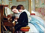 Charles West Cope The Music Lesson painting