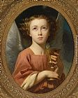 Charles Zacharie Landelle An Angel Holding a Chalice painting