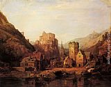 Clarkson Stanfield Balduinstein on the Lahn painting