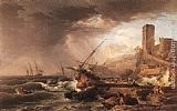 Claude-Joseph Vernet Storm with a Shipwreck painting