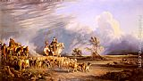Consalvo Carelli Goat Herders In A Neapolitan Landscape painting