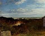 Constant Troyon A View Towards The Seine From Suresnes painting