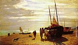 Constant Troyon Beach At Trouville painting
