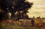Constant Troyon Cows Grazing painting