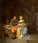 Cornelis Bega The Duet painting