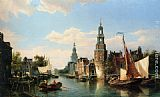 Cornelis Christiaan Dommelshuizen The Montelbaans Tower, Amsterdam painting