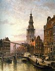 Cornelis Christiaan Dommelshuizen The Zuider Kerk at Dusk, Amsterdam painting