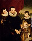 Cornelis De Vos Portrait Of A Nobleman And Three Children painting
