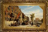 Cornelis Springer A visit of Bayliff Ten Frootenhuys to the Guild of Archers painting