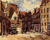 Cornelis Vreedenburgh A Townscene With Children At Play, Haarlem painting