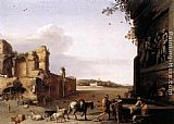 Cornelis van Poelenburgh Ruins of Ancient Rome painting