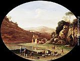 Cornelis van Poelenburgh Valley with Ruins and Figures painting
