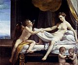 correggio Paintings - Danae