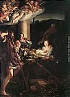 correggio Paintings - Nativity (Holy Night)
